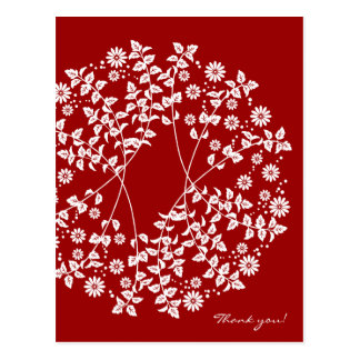 Arabesque letter of thanks thank you card postcard
