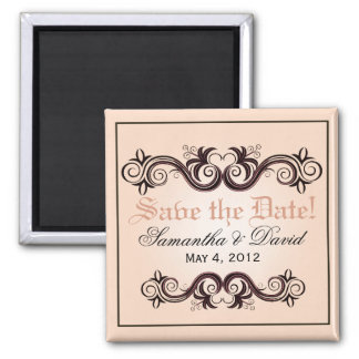 Arabesque Save the Date (blush pink) Magnet