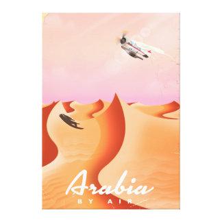 Arabia By Air travel poster Canvas Print
