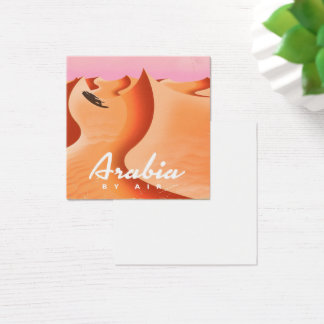 Arabia By Air travel poster Square Business Card