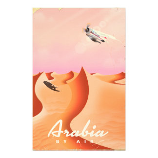 Arabia By Air travel poster Stationery