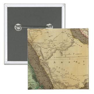 Arabia, Egypt, Nubia 2 Inch Square Button