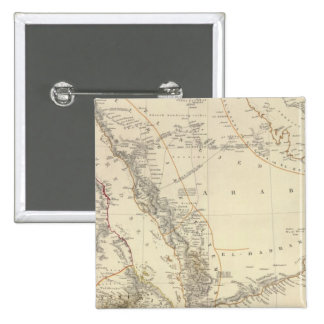Arabia, Egypt, Nubia, Abyssinia 2 Inch Square Button