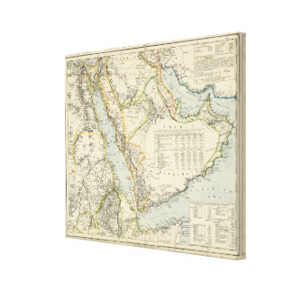 Arabia, Egypt, Nubia, Abyssinia Gallery Wrapped Canvas