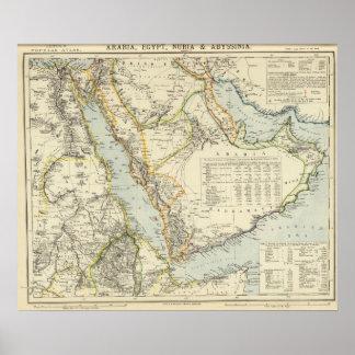 Arabia, Egypt, Nubia, Abyssinia Poster