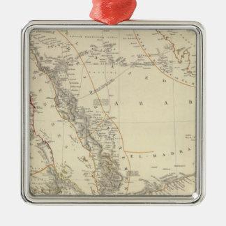 Arabia, Egypt, Nubia, Abyssinia Silver-Colored Square Ornament