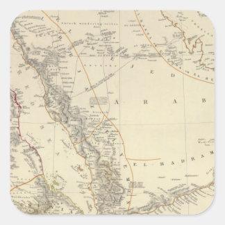 Arabia, Egypt, Nubia, Abyssinia Square Sticker