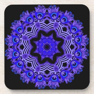 Arabian Blue lace coaster