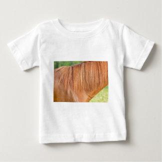 Arabian brown horse in pasture close view of mane baby T-Shirt