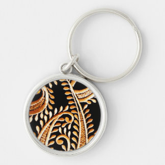 Arabian Dress Silver-Colored Round Keychain