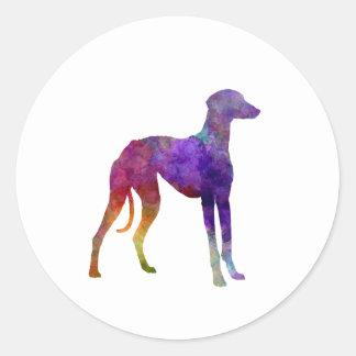 Arabian Greyhound in watercolor Classic Round Sticker