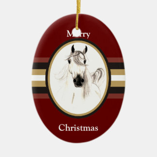 Arabian Horse Custom Christmas Ornament