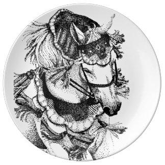 Arabian Horse in Costume Porcelain Plate