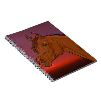 Arabian Horse Portrait Print Note Books