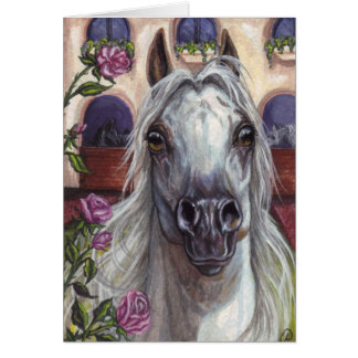 ARABIAN HORSE Roses Note Card