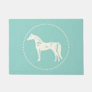 Arabian horse silhouette doormat