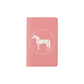 Arabian horse silhouette pocket moleskine notebook