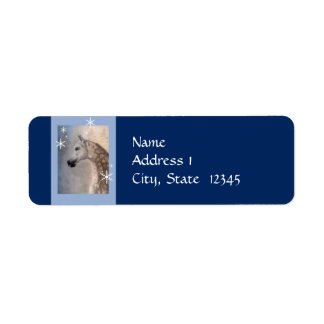 Arabian Horse Snow Return Address Label Template