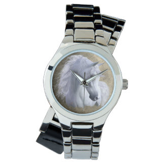 Arabian Horse Stainless Steel Women's, pick style Wristwatches