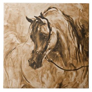 Arabian Horse to the Left Tile