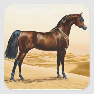 Arabian Horse - William Barraud Square Sticker