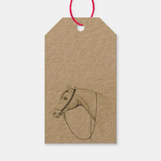 Arabian Horse with bedouin saddlery Gift Tags