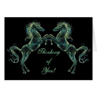 Arabian Horses Greetings Card