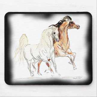 Arabian Horses Mouse Pad - Two Friends Tu