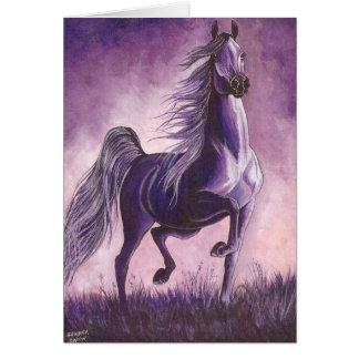 Arabian in Purple Card