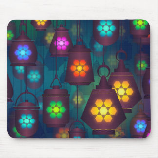 Arabian Lanterns Middle Eastern design Mouse Pad