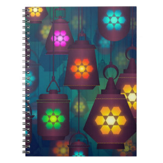 Arabian Lanterns Middle Eastern design Spiral Notebook