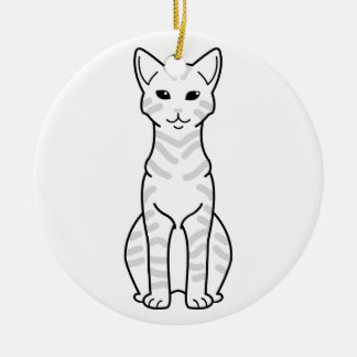 Arabian Mau Cat Cartoon Ceramic Ornament