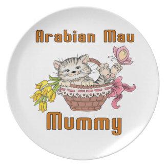 Arabian Mau Cat Mom Party Plate