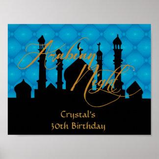 Arabian Night, 30th Birthday Party Poster