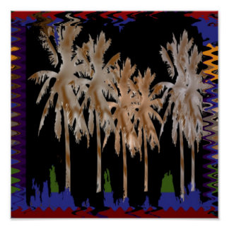 Arabian Night Trees Abstract by NavinJoshi FUN fob Poster