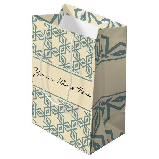 Arabian Nights | Classical Beige & Grey Pattern Medium Gift Bag