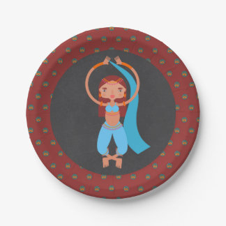 Arabian nights girl Birthday Party 7 Inch Paper Plate