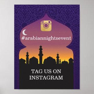 Arabian Nights Instagram Sign Wedding Event Party