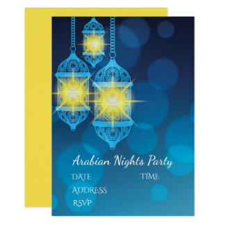 Arabian Nights Lanterns party theme Card