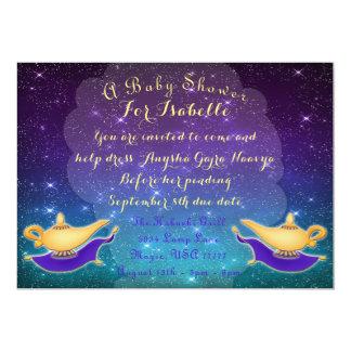 Arabian Nights Magic Lamp and Flying Carpet Invite