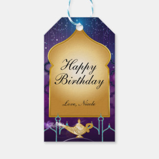 Arabian Nights Moroccan Birthday Party Gift Tag
