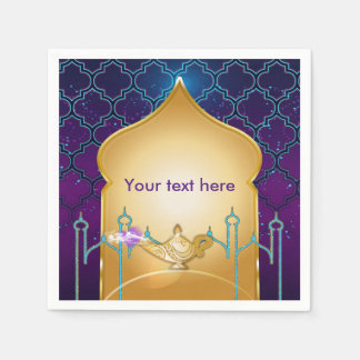 Arabian Nights Moroccan Birthday Party Napkins Disposable Napkins