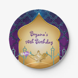 Arabian Nights Moroccan Birthday Party Plates 7 Inch Paper Plate