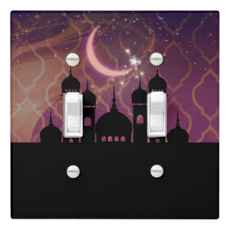 Arabian Nights Moroccan Middle Eastern Gold Pink Light Switch Cover