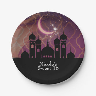 Arabian Nights Moroccan Middle Eastern Party 7 Inch Paper Plate