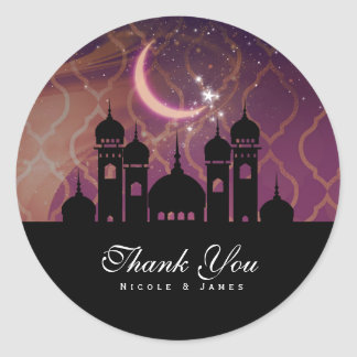 Arabian Nights Moroccan Middle Eastern Party Classic Round Sticker