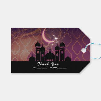 Arabian Nights Moroccan Middle Eastern Party Favor Gift Tags