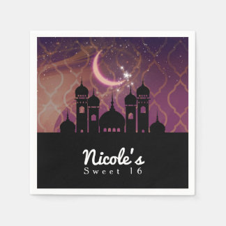 Arabian Nights Moroccan Middle Eastern Party Paper Napkin