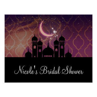 Arabian Nights Moroccan Middle Eastern Party Poster