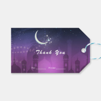 Arabian Nights Moroccan Middle Eastern Purple Gift Tags